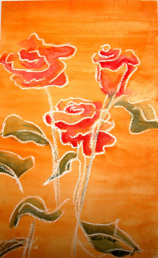 111 Rosen in Orange (Nov. 2015) 40 x 60