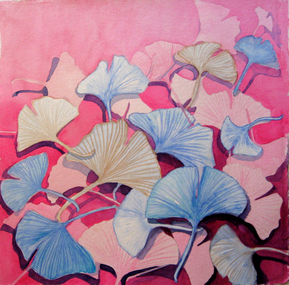 112 Ginkgo in Pink (Nov. 2015) 50 x 50